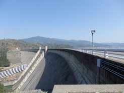 Walking on the dam