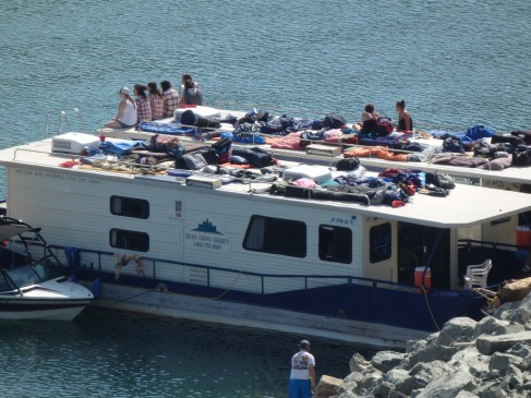 People on a party boat