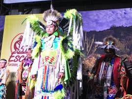 Watching Native Indian dancing show